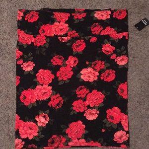 Torrid floral fold over skirt
